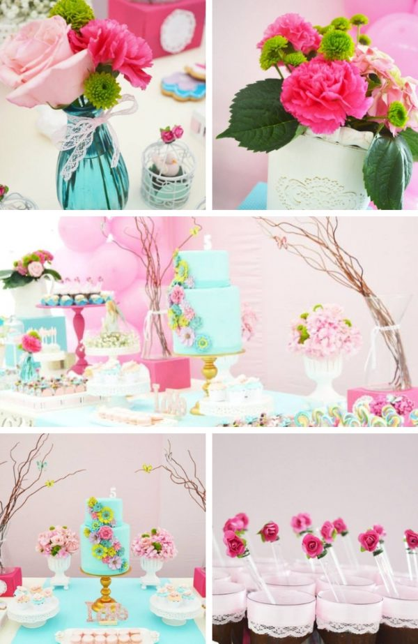 Aqua Enchanted Garden Party