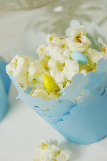 Sprinkled White Chocolate Baby Shower Popcorn Recipes