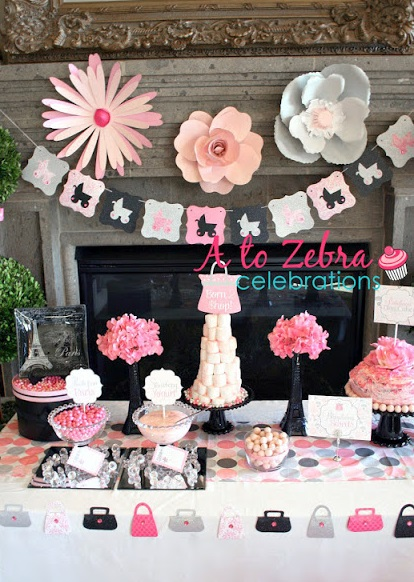 Born to shop themed party tablescape
