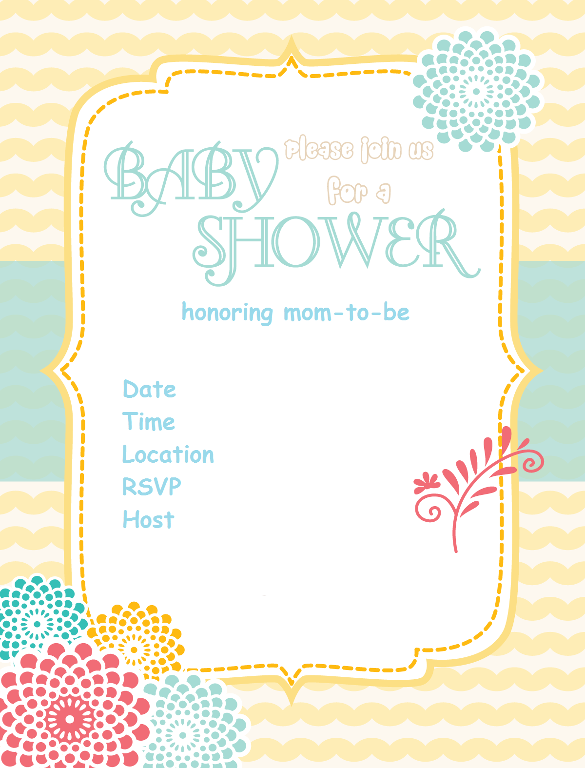 Free-baby-shower-Invitation-sunshine-flower