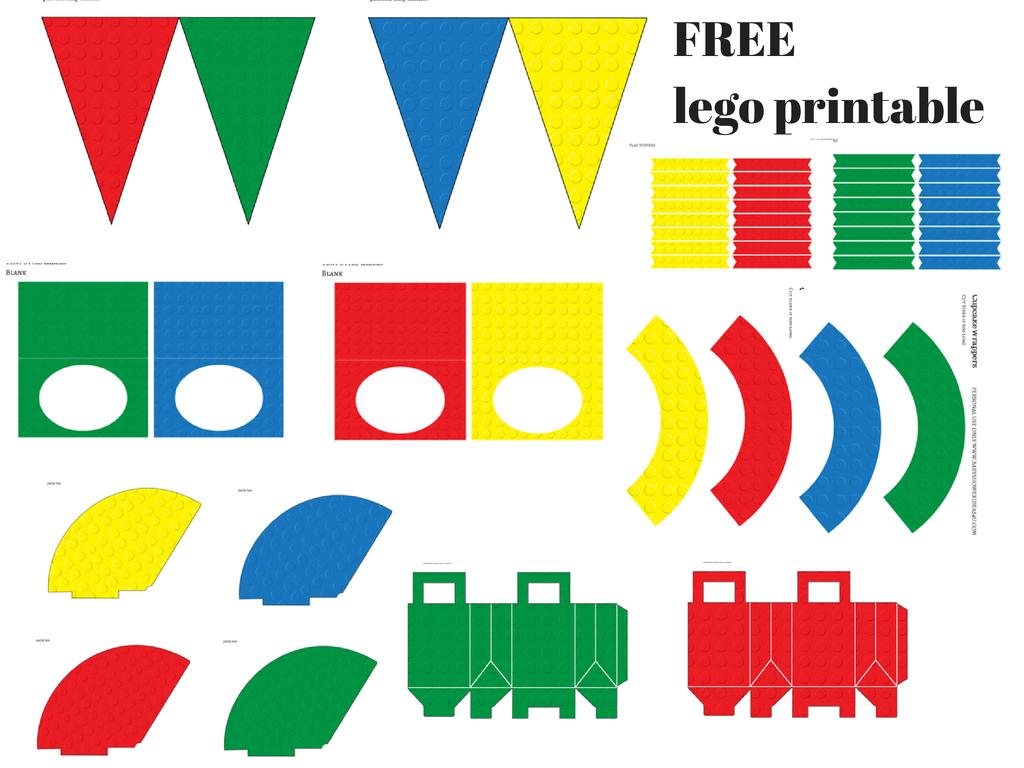 free lego printable