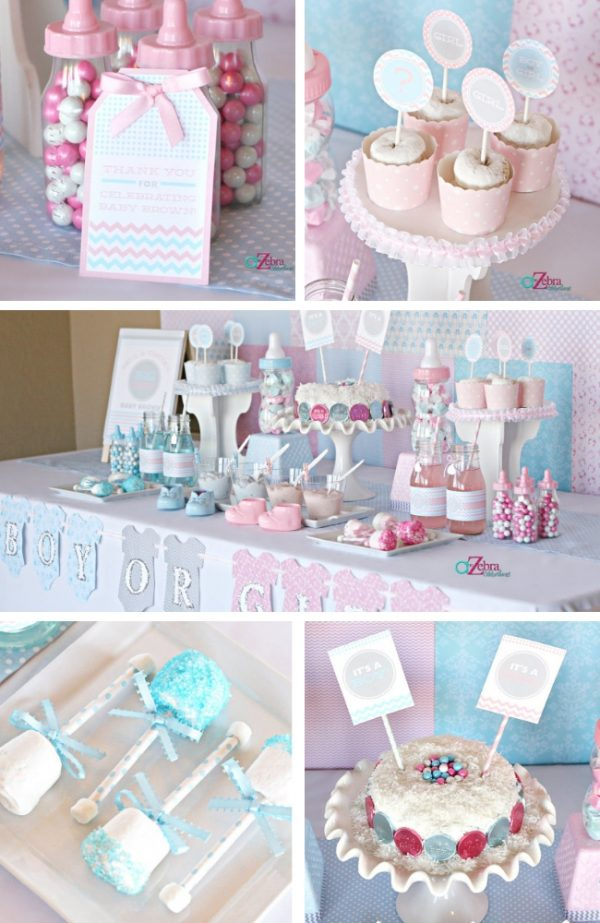 Pink or Blue Baby Gender Reveal Party