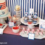 Red and Blue Nautical Theme Party