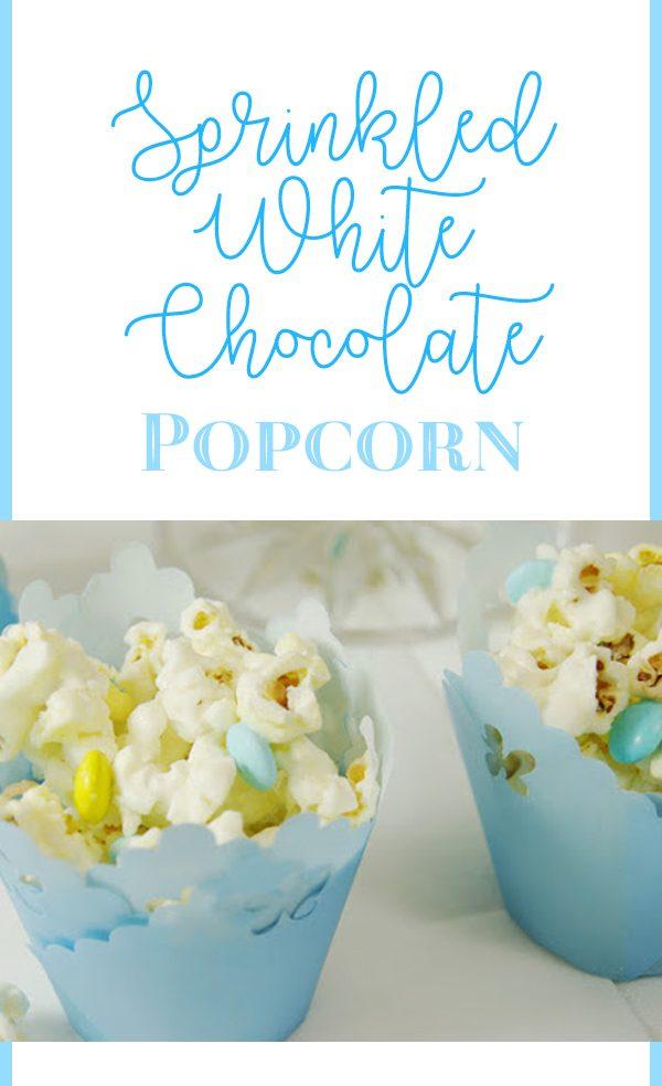 Sprinkled White Chocolate Popcorn