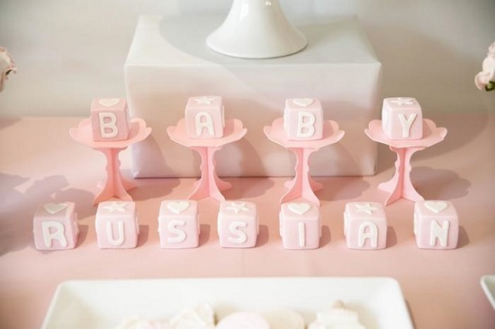 Sweet Baby Blocks centerpieces