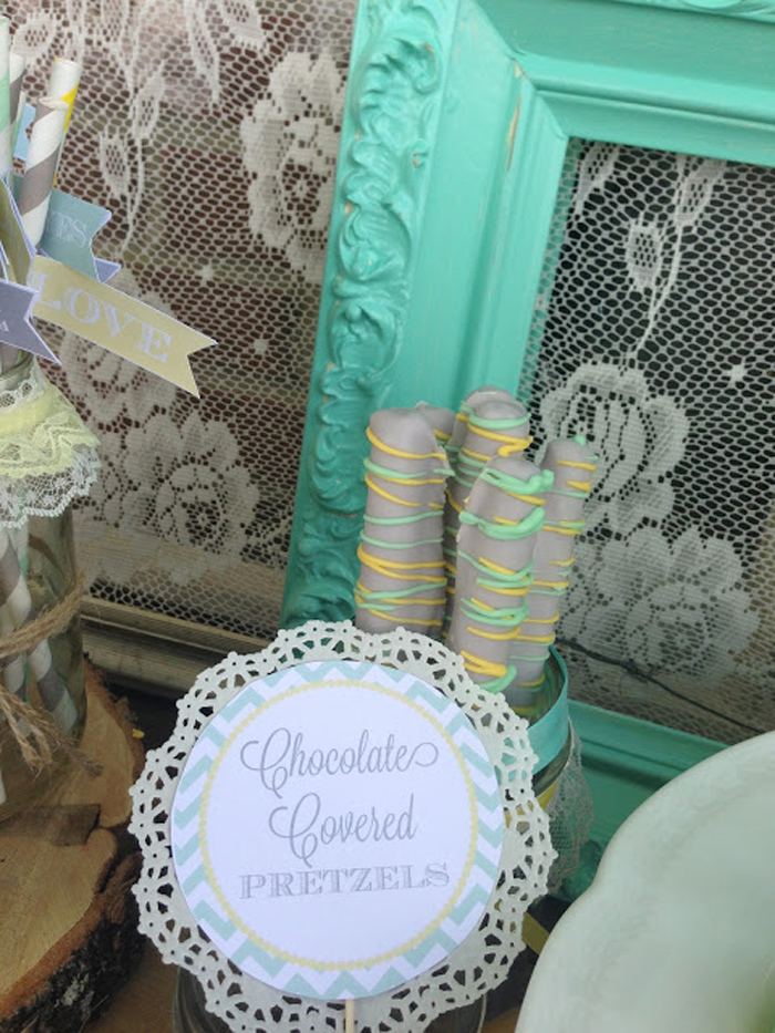 Vintage Baby Shower with Mint, Yellow and Gray Ideas Inspirations