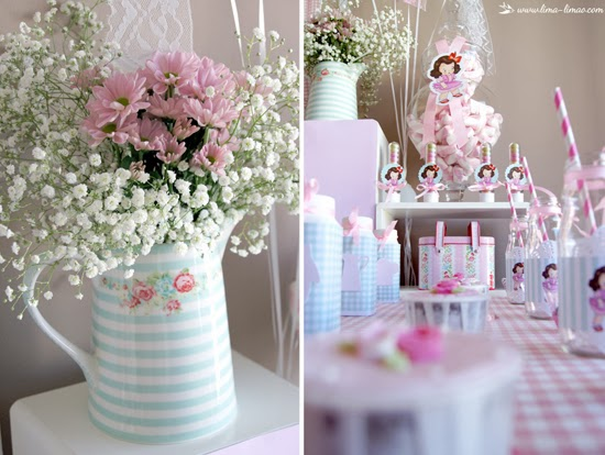 clockwork, table linens, tea glassware