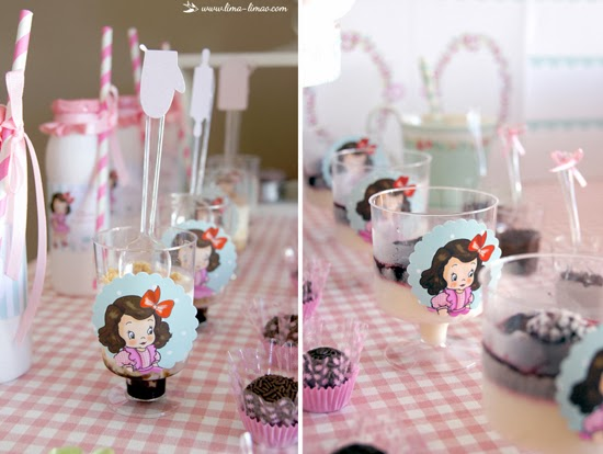 little girl in red ribbon toppers