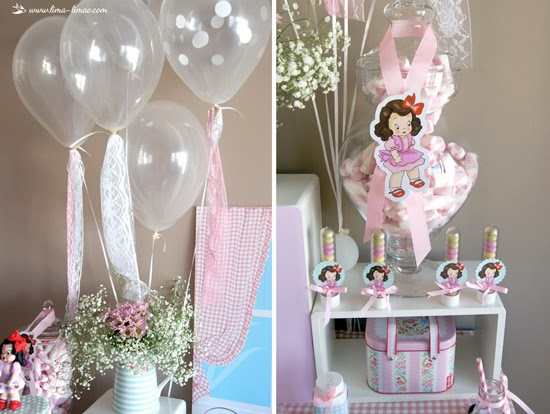 polka dot clear balloons with laces