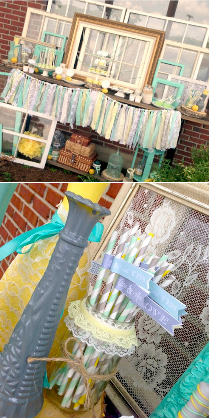 Vintage-Mint-Yellow-and-Gray-Bridal-Shower-full-of-ideas-Via-Karas-Party-Ideas-KarasPartyIdeas.com_ (1)