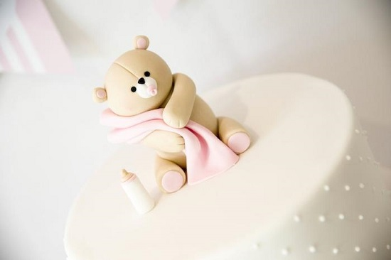 adorable bear cake topper