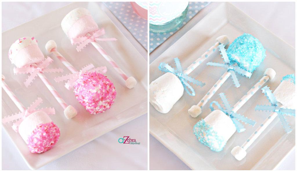 Pink or Blue Baby Gender Reveal baby raffle snack