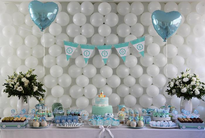 sweet little boy baby shower party