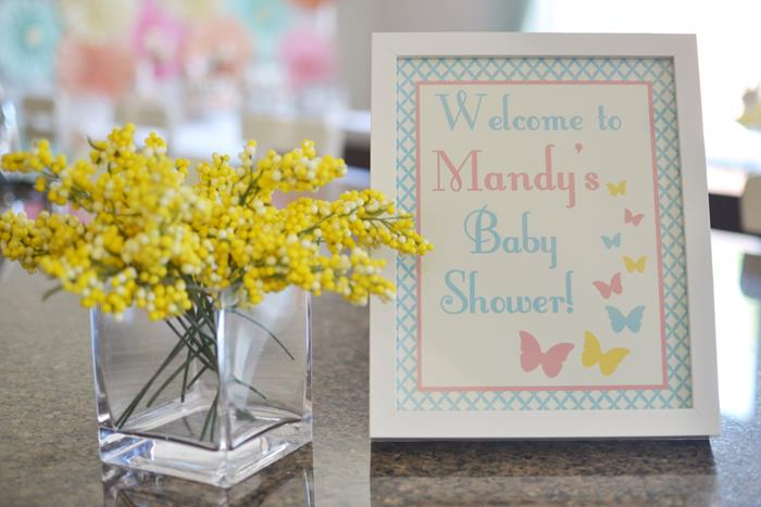 welcome baby shower frame