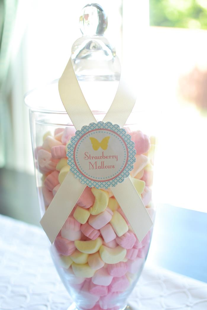 butterfly strawberry marshmallows