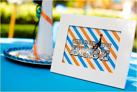 French Circus Inspired Cirque Du Bebe Baby Shower