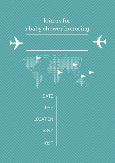 free printable baby shower invitations aviator