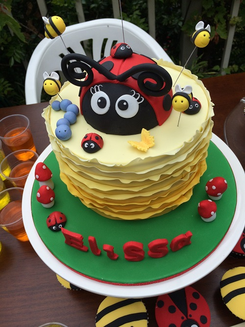 A Little Ladybug is Turning 1 cake