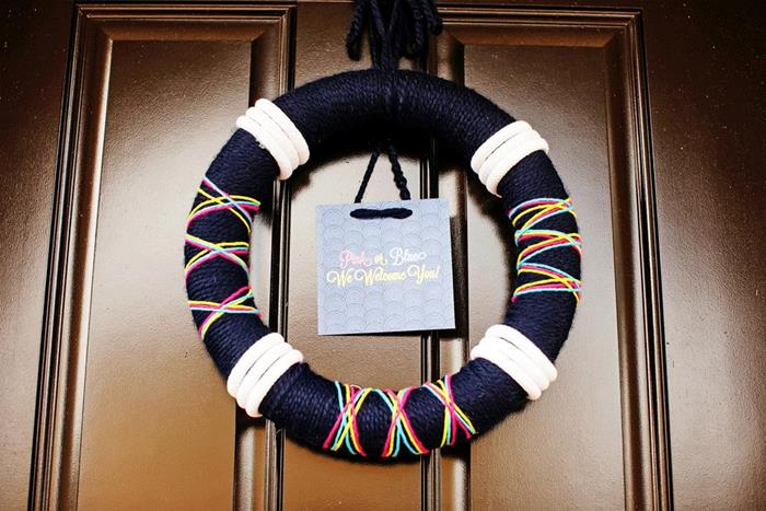 welcome ahoy wreath