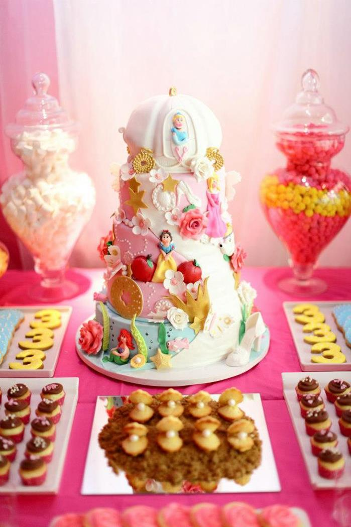 Pink Fairytale Princess Baby shower cake