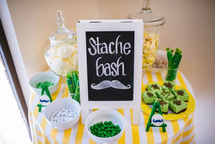 stache bash dessert table