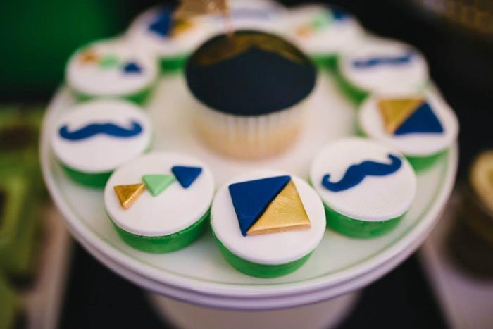 geometric cupcakes