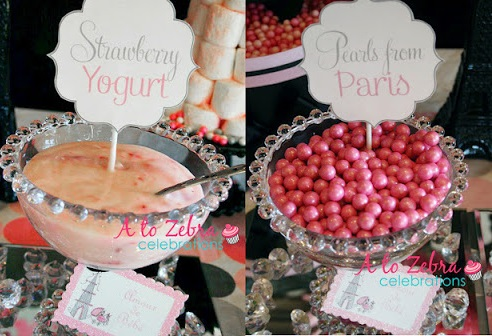 strawberry yogurts and pearls from paris