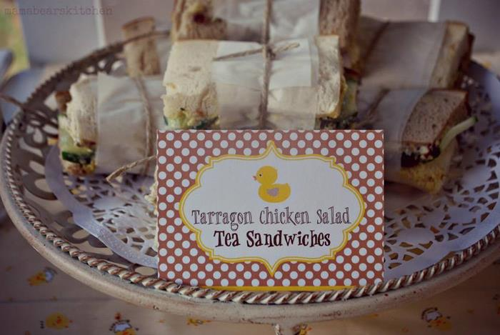 tarragon chicken tea sandwiches