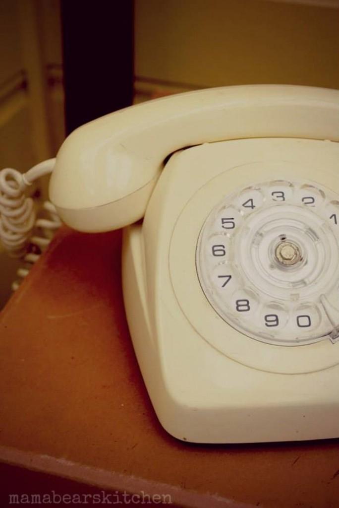 vintage telephone for decoration