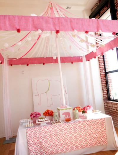 Elephant Circus Baby Shower Theme Ideas for Girls, Boys, Gender Neutral, Gender Reveal Party Ideas