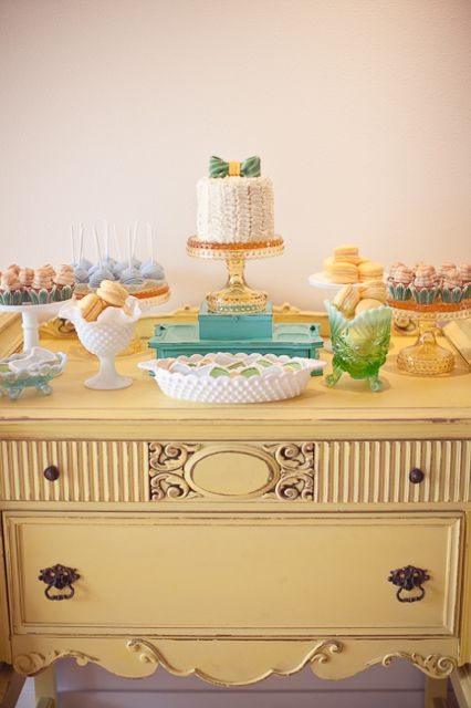 Vintage Bow Tie Themed Baby Shower ideas for boys centerpiece baby shower cake
