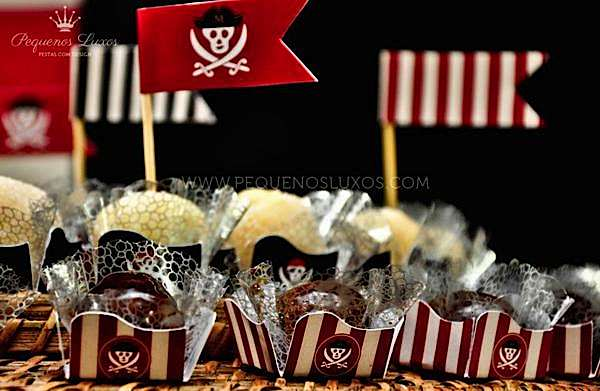 Black Red Pirate Themed Party