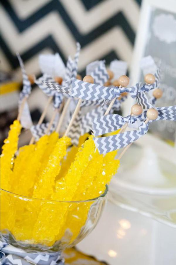 Yellow crystal rock candy