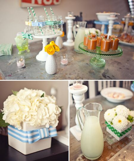 bowtie food and dessert table