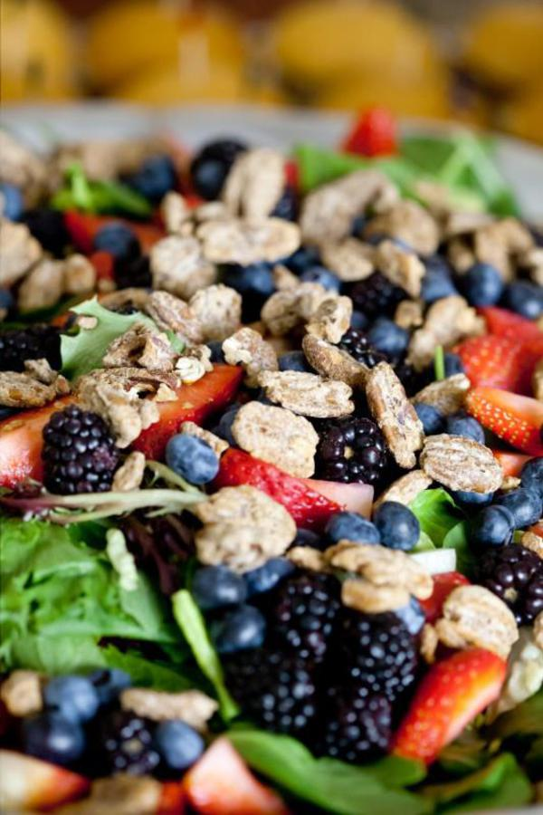 Berries and nuts healthy food