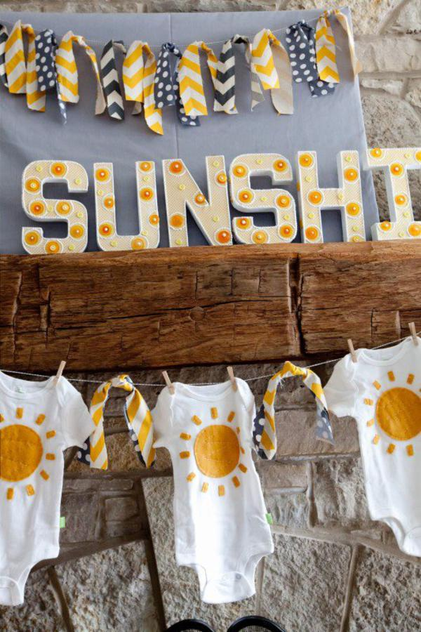 You Are My Sunshine Baby Shower Ideas tassels