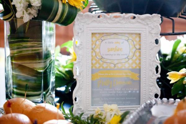 yellow and grey invite