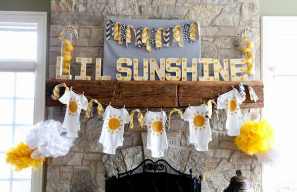 you are my sunshine baby shower onesie decor