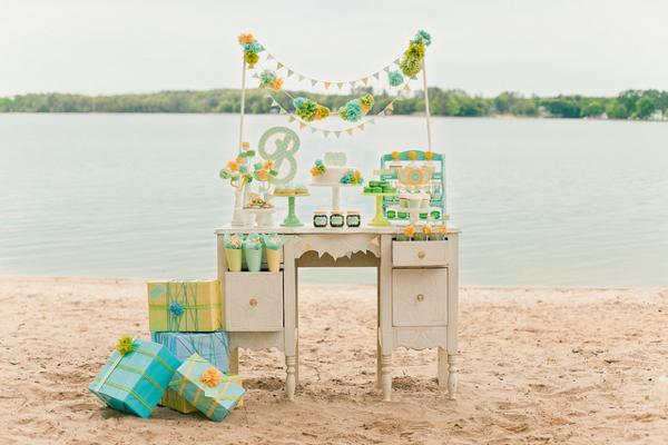Beach Gender Neutral Baby Shower ideas - Boys Girls Gender Reveal