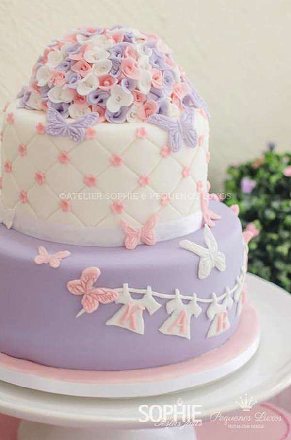Pretty Lilac, Pink Butterfly Baby Shower - Baby Shower Ideas and Shops
