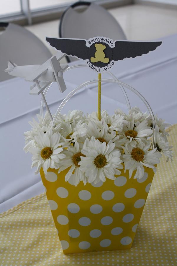 aviator bear baby shower decoration ideas