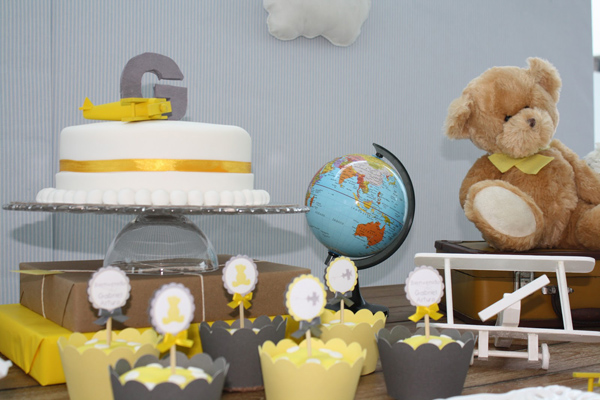 Flying High with Aviator Bear Baby Shower