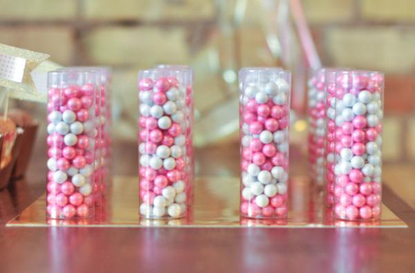 Pink and Gold Confetti Baby Shower Theme