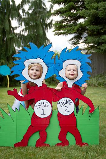 Thing 1 Thing 2 Photobooth Props