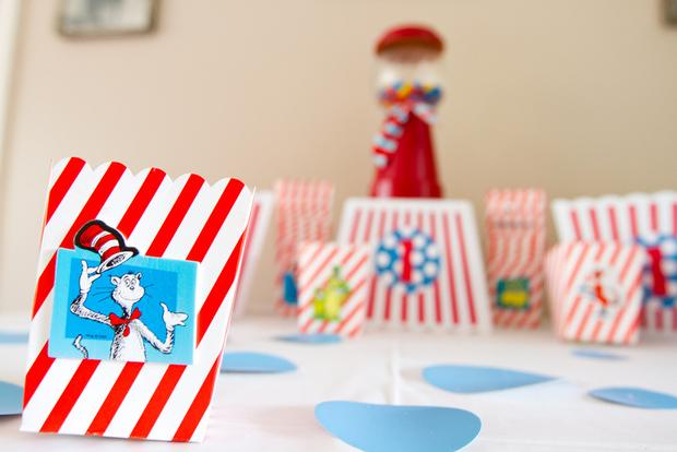 Dr seuss inspired cat in the hat party ideas via babyshowerideas4u