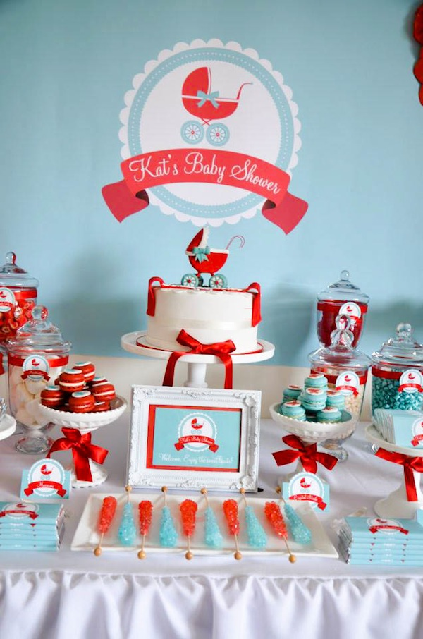 baby carriage baby shower themer - Gender Neutral Baby Shower Ideas