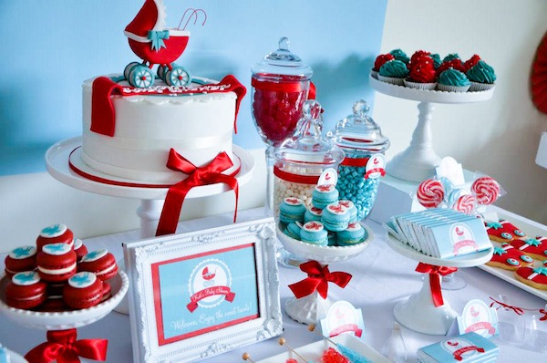 baby carriage baby shower theme - Gender Neutral Baby Shower Ideas