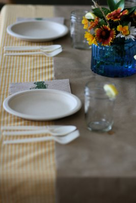 Vintage Tractor Baby Shower Theme Ideas for baby boy table setting