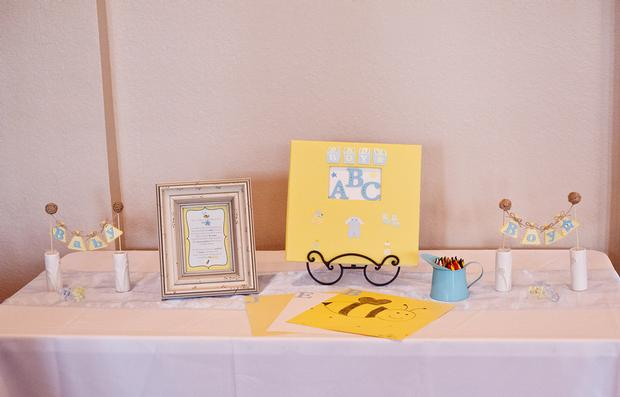 Life Begins with the Birds and the Bees Baby Shower via babyshowerideas4u ABC guestbook drawing