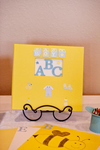 Life Begins with the Birds and the Bees Baby Shower via babyshowerideas4u abc guestbook